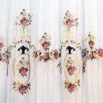 Элитная вуаль с художественной вышивкой