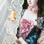 Утонченная и очень нежная вуаль в стиле мадам Пампадур