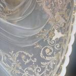 Шикарная вуаль с узорами и добавлением бархата