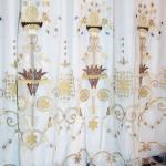 Элитная вуаль дымчато-лилового цвета