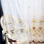 Эксклюзивная вуаль с орнаментом из полевых цветов