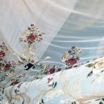 Роскошная вуаль в стиле мадам Пампадур с художественной вышивкой