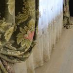 Эксклюзивная вуаль с нежной тонкой вышивкой из цветочных мотивов